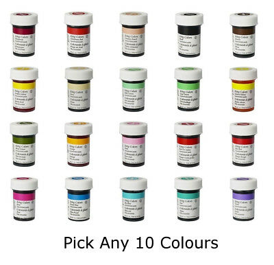 Any 10 x Wilton Icing Color Concentrate Paste Gel Cup cake Food Colouring Baking