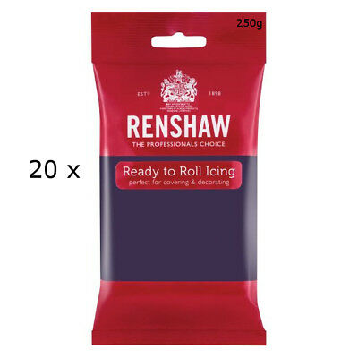 5 Kg Renshaw Ready Roll Icing Fondant Cake Regalice Sugarpaste DEEP PURPLE