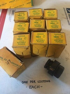 "(1) NOS - 3/16"" Greenlee 730K Keyway Punch 3/16"" Nibbler Punch 730-K #5355"
