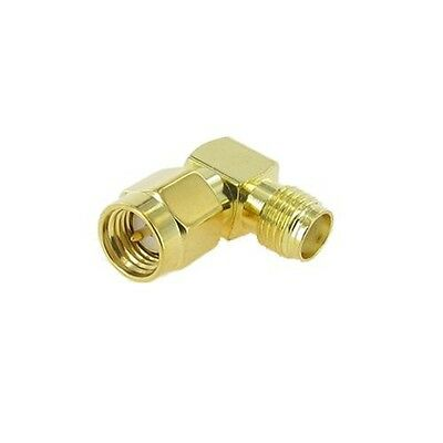 SMA Male to SMA Female right angle connector - UK seller