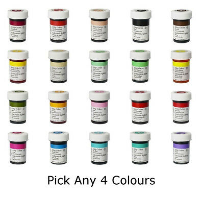 Any 4 x Wilton Icing Color Concentrate Paste Gel Cup cake Food Colouring Baking