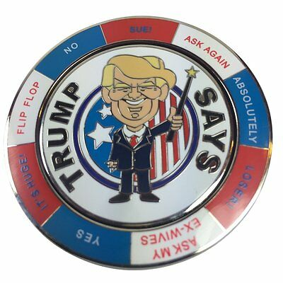 Ask Trump Spinning Decision Maker Coin By