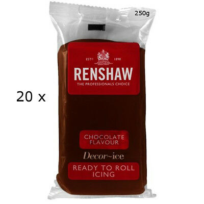 5 Kg Renshaw Ready To Roll Icing Fondant Cake Regalice CHOCOLATE FLAVOUR