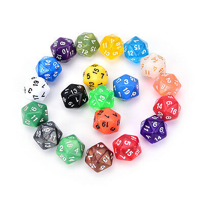 1PC D20 gaming dice twenty sided die number 1-20 for RPG game zp