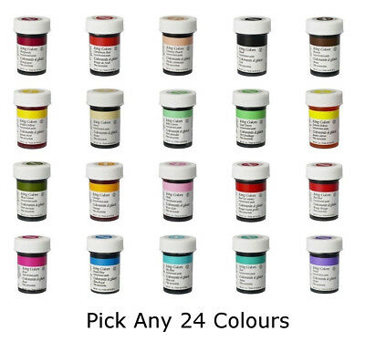Any 24 x Wilton Icing Color Concentrate Paste Gel Cup cake Food Colouring Baking