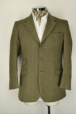 "40"" Reg 3 Button John G Hardy Gamekeeper Tweed Check Blazer Jacket"