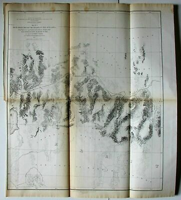 Humboldt Mountains Mud Lakes California Idaho 1855 Jeff Davis U.S. RR survey map