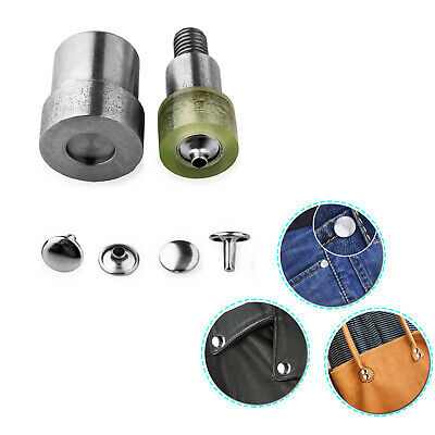 Setting Tools For Green Hand Press Machine Craft DIY Double Cap Rivets Die Set