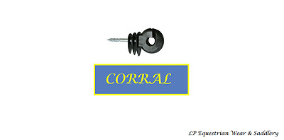 Corral Ring Electric fencing Insulators like fenceman Fence skrew in clips x40