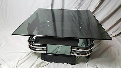 Incredible Streamline Coffee Table Vintage Atomic Age Jazz Age Art Deco Table