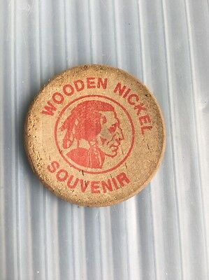 Vintage Bogalusa Diamond Jubilee Indian Wooden Nickel Souvenir 1989