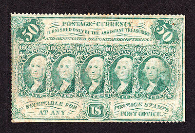 US 50c Fractional Currency Note Perforated w/o Monogram FR 1311 F-VF