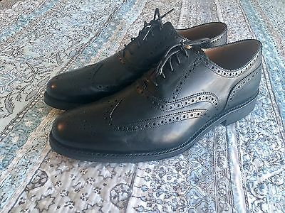 Men's Grenson oxford black leather shoes size 10 US