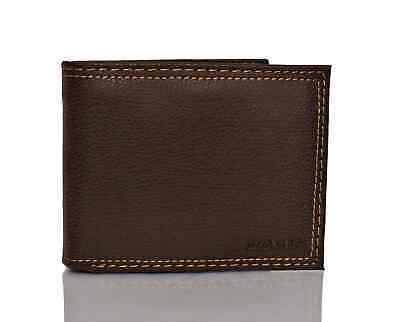Levi's Traveler Men's Bifold Leather Wallet With Interior Zipper