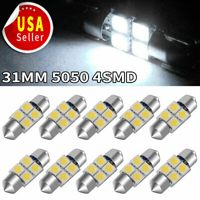 20PCS T10 HID White LED 5630 6smd Wedge Interior License Plate Dome Light Bulbs