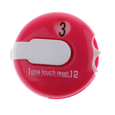 Pink Golf Score Counter One Touch Reset Score Counter - Attach to Glove