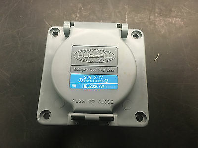 hubbell HBL2320SW 20 amp 250 v 2 pole 3 wire watertight twist lock receptacle