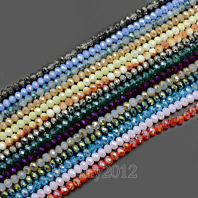 4x6mm 100pcs Czech Crystal Faceted Rondelle Glass Beads For Bracelet Necklace