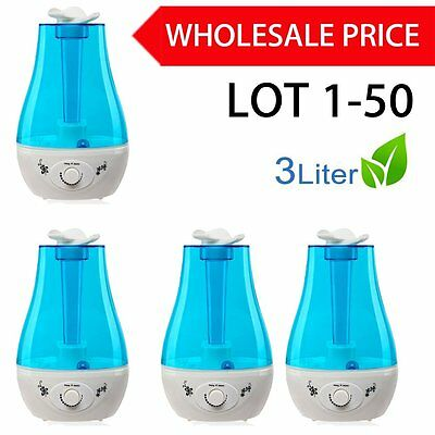 3L Ultrasonic Humidifier Cool Air Diffuser Purifier Home Office Room LOT 1-50 AL