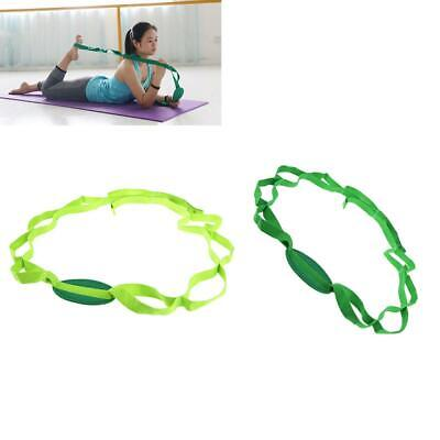 Pilates Yoga Stretching Strap Belt Exercise Loops Fitness Elastic Training Band