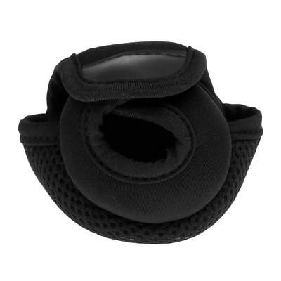 Fly Fishing Reel Cover Pouch Fishing Reel Bag Reel Protector Glove - Black