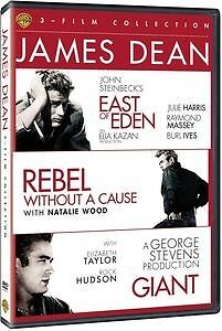 James Dean Triple East Of Eden Rebel Without A Cause Giant 3 Disc Set Dvd  R4/1