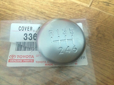 Genuine Toyota Avensis 2007 Gear Knob Chrome Cap Top Only 6 Speed 2007