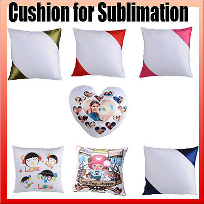10x Cushions / pillows Cover ONLY dye sublimation ink heat press heat transfer