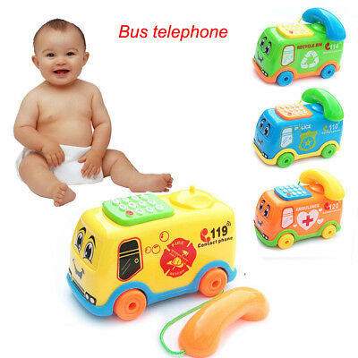Baby Boys Girl Music Cartoon Bus Phone Educational Developmental Kids Toy Gifts