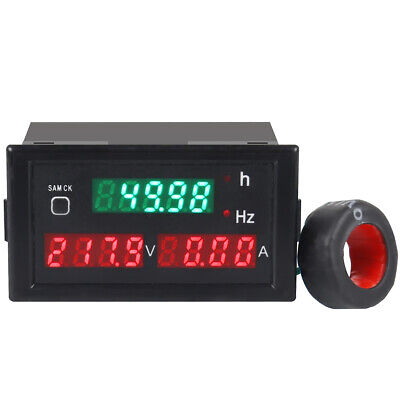 NEW AC 80-300V 100A 45-65Hz Digital Voltmeter Frequency Volt Amp Panel Meter