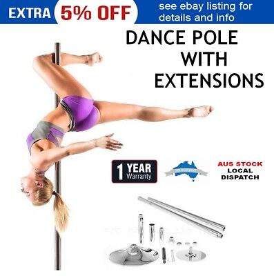 Stripper Pole Dancing Metal Dance Kit Fitness Exercise Workout Static Spinning