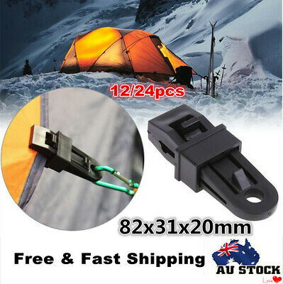 12/24pcs Awning Clamp Tarp Clips Set Camping Survival Tent Canopy Accessories