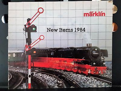Marklin Vintage 1984 Magazine Catalogue Model Train Locomotive Carriage English