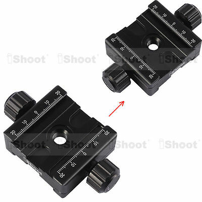 Metal Double-faced Clamp for 39mm AS Camera Tripod Ball Head Quick Release Plate