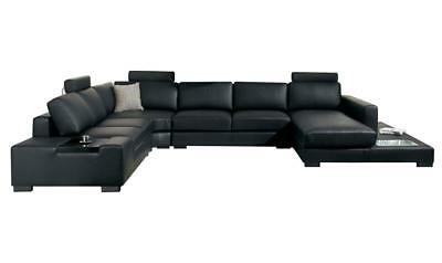 Admirable Ultra Modern Black Faux Leather Corner Sectional Sofa With Gmtry Best Dining Table And Chair Ideas Images Gmtryco