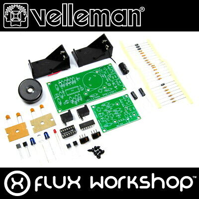 Velleman IR Light Barrier Mini Kit MK120 Unsoldered Buzzer DIY Flux Workshop