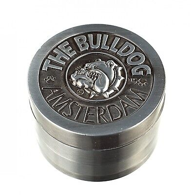 GRINDER PER TABACCO THE BULLDOG IN METALLO 4 PARTI Trita Erba Pollinator Grass