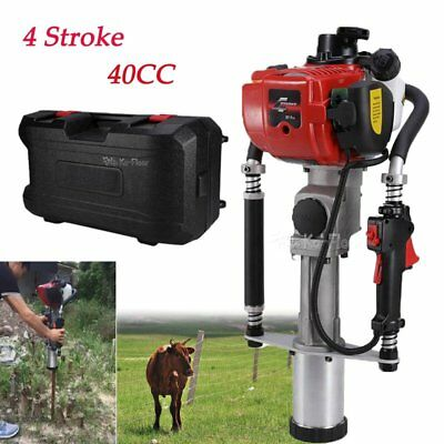 Gas Powered T-Post Driver 4 Stroke 40CC Gasoline Push Pile Driver Farm Fence