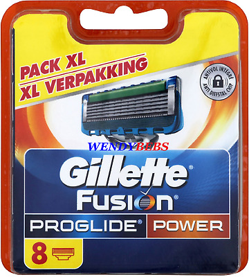 8Pcs Original Gillette Fusion Proglide Power Shaving Razor Cartridge Blades Mm