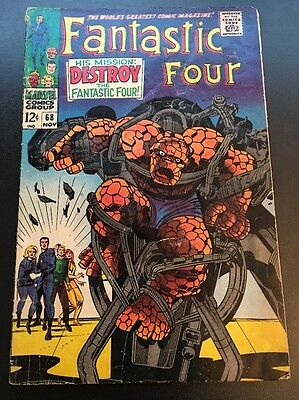 Fantastic Four Vol 1 # 68 Cents Issue, Silver Age