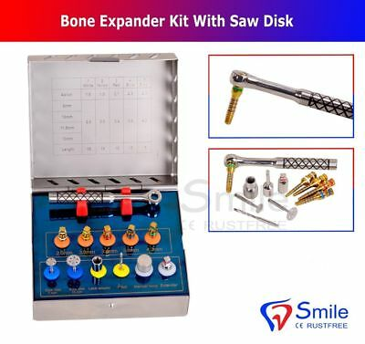 Dental Bone Expander Kit Sinus Lift With Saw Disks Surgical Implant Instruments