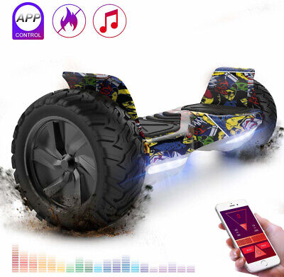 """8.5""""Hoverboard Self Balance Monopattino Elettrico Scooter Bluetooth Led Off Road"""