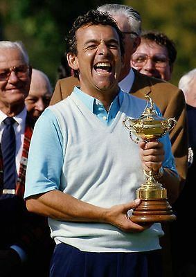 Tony Jacklin 01 Holding Ryder Cup (Golf)  Photo Prints And Mugs