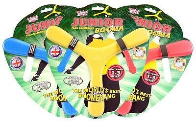 JUNIOR BOOMA Foam Boomerang Wicked Flight Range 1-3 Meters Return