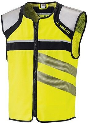 Held High Visibility Vest Motorcycle Safety Vest Black Neon Yellow Size S