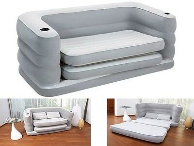 Multi Max Ii Inflatable Sofa Couch Double Air Bed Mattress Pillows Camping Seat