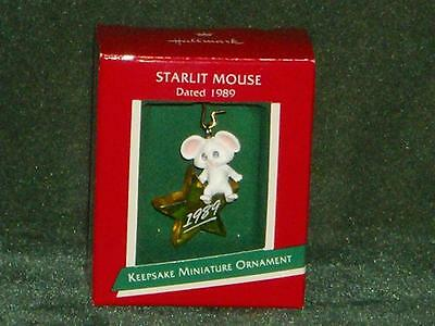 Hallmark 1989 Starlit Mouse - Miniature Ornament - NEW