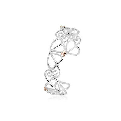 BRAND NEW Official Clogau Gold Silver & Rose Gold Love Vine Bangle £155 off!