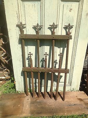 Vtg Metal Gothic Ornate  GATE GARDEN YARD ART Shabby Cottage Style Fence
