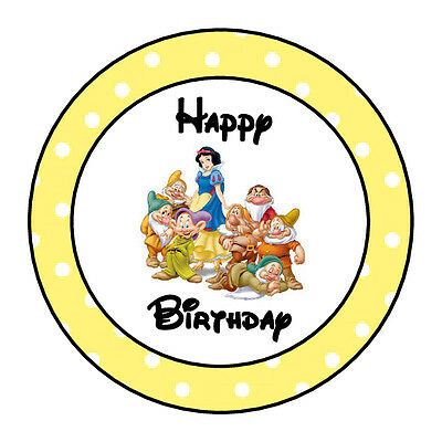24 Personalized Snow White Happy Birthday Party Favor Labels Stickers 167